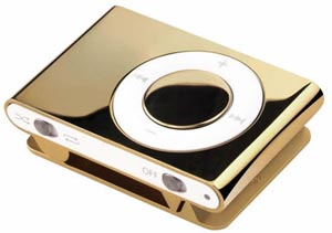 золото-бриллиантовый iPod Shuffle от немецкой компании Xexoo