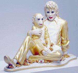 Фарфоровая скульптура Michael Jackson and Bubbles, фото cetki.com