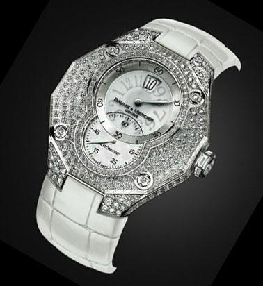 Baume & Mercier Riviera XXL Jump Hour - роскошные часы из белого золота и бриллиантов