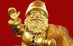 Дед Мороз из чистого золота изготовлен к Новому Году