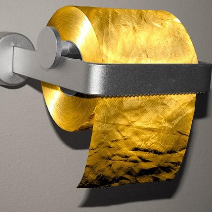 Рулон туалетной бумаги из чистого золота от Toilet Paper Man стоит $ 1.376.900