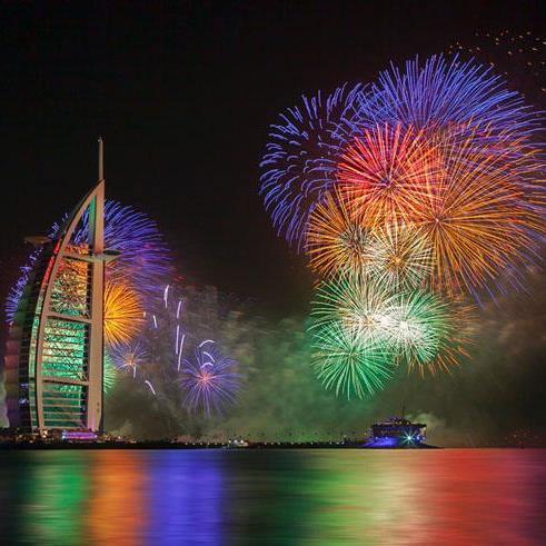 Дубайский фейерверк признан самым роскошным в мире