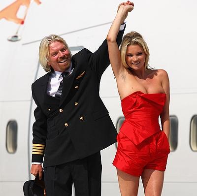 Модель Кейт Мосс отметила 40-летие на острове Ричарда Брэнсона