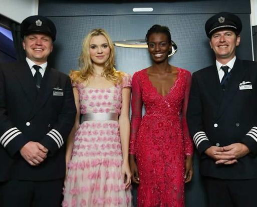 Британская мода «вознеслась в небо» на самолете от British Airways