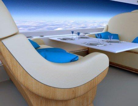 В самолетах установят виртуальные окна для развлечения пассажиров