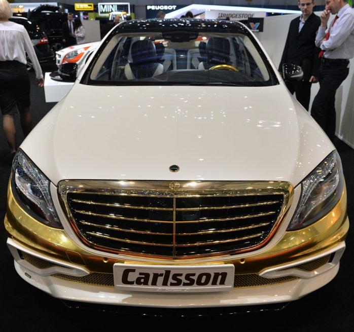 «Золотой» тюнинг автомобиля Mercedes S Class оценили в $370.000