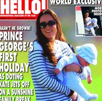 Кейт Миддлтон с сыном Джорджем совершили первое совместное путешествие