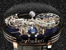 Роскошные часы с турбийоном Jacob & Co. Astronomia Tourbillon оценили в $1.000.000