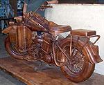 Легендарный мотоцикл Harley Davidson стал предметом интерьера