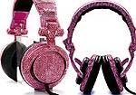 Наушники с розовыми кристаллами Swarowski порадуют богатых модниц