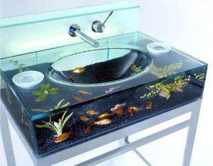 Раковина и аквариум в одном флаконе!