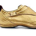 Золотые туфли для осенней непогоды от Roberto Coin