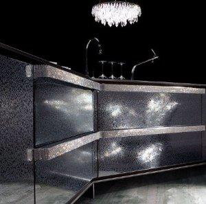 Кухня, украшенная кристаллами Swarovski
