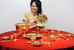 Золотой сервиз от Гиндза Танака