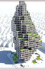 Проект необычного небоскреба в Дании