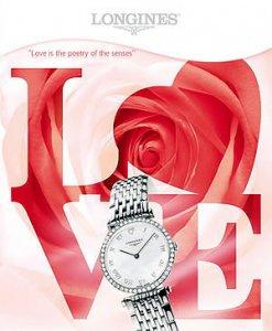 Часы с бриллиантами ко Дню Святого Валентина