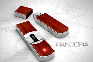 Драгоценные флешки Pandora распознают хозяина по отпечатку пальца