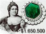 Изумрудная брошь Екатерины Великой продана за $1.650.500