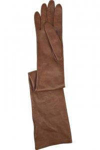 Кожаные перчатки до локтя от Lanvin