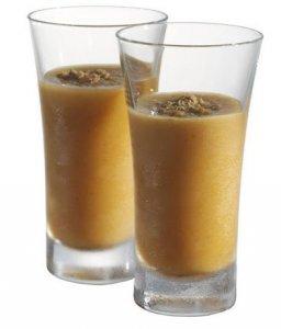 Праздничный коктейль - Caramel Pumpkin Cheesecake Dessert Shots