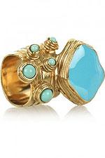 Изящное кольцо с бирюзой от Ива Сен-Лорана