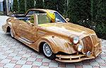 Деревянный автомобиль покорил всех на «ярмарке тщеславия»
