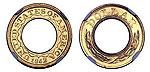 Редкая американская монета с отверстием продается на аукционе