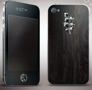 Женский телефон с черными бриллиантами от Gresso