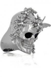 Кольцо в форме черепа от McQueen