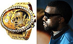 Часы с бриллиантовым портретом рэппера Кэни Уэста стоят $180.000