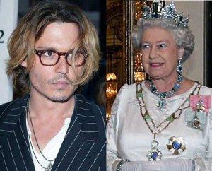 Джонни Депп и королева Елизавета II – родственники
