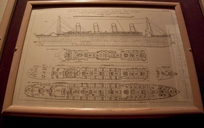Чертёжную схему «Титаника»  продали за $360.000