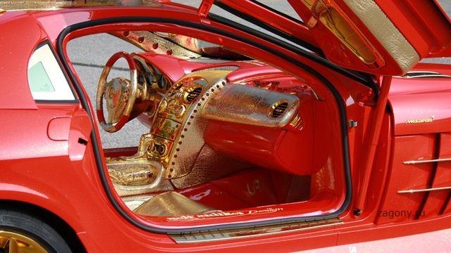 Единственный в мире автомобиль McLaren SLR 999 Red Gold Dream продают за $11 000 000