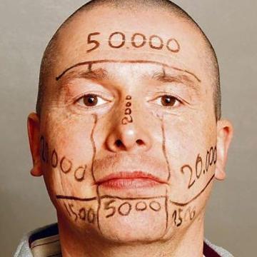 Реклама на лице может стоить больше 100 000 евро