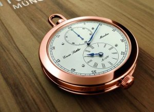 Время роскоши золотых карманных часов Erwin Sattler