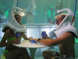 Пропустить по «стаканчику» кислородной смеси можно в первом в мире мексиканском подводном баре (видео)