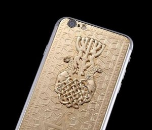 iPhone с золотой Звездой Давида от бренда Caviar