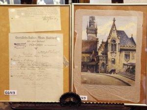 Картины Адольфа Гитлера выставлены на продажу в Нюрнберге