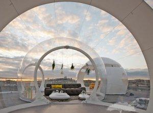 Необычная палатка-пузырь от французских дизайнеров