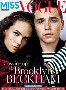 Бруклин Бекхэм дебютировал на обложке Vogue