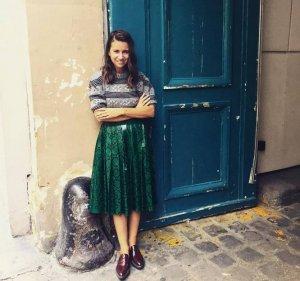 Наталье Гольденберг не грозит кризис: она носит юбку из кожи питона стоимостью больше $10.000