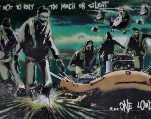 $850 000 за рисунок-граффити, сделанный уличным художником Бэнкси