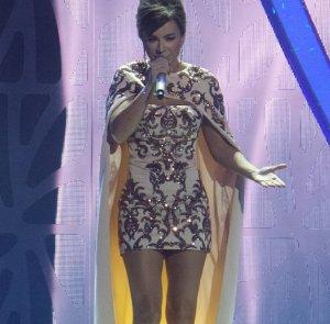 Эффектное и соблазнительное платье Ани Лорак