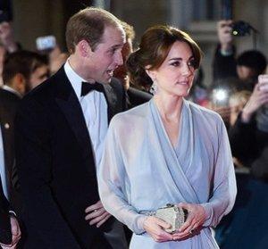 Дизайнерское платье Кейт Миддлтон на презентации фильма «007: Спектр» удивило публику