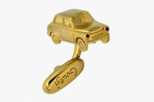 Золотые запонки в форме «Горбатого» «Запорожца»