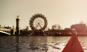 Парижский проект плавучего отеля в виде колеса обозрения
