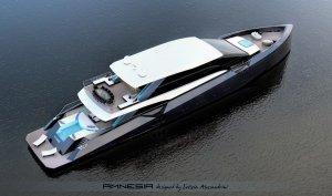 «Амнезия»: футуристическая яхта от компании Alessandrini Letizia