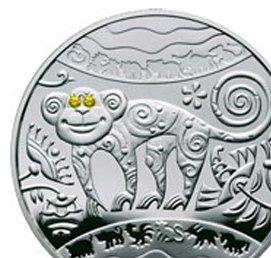 Будет выпущена серебряная украинская 5-гривенная монета с обезьянкой на реверсе