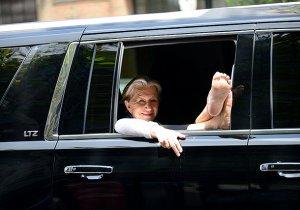Фотография 69-летней Хелен Миррен в пробке в Нью-Йорке