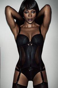 Рекламная фотосессия авторского белья с супермоделью Наоми Кемпбелл